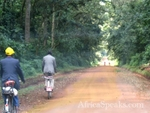A typical unpaved road, this one in the Kakamega Forest