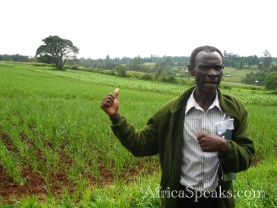 Noah, Technical Officer for the Kenyan Agricultural Research Institute