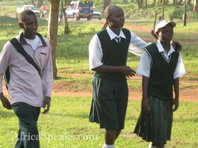 Children walk from School in Kitale