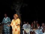 Iya addresses the gathering