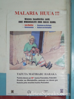 Educational Poster on Malaria in Swahili