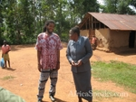 Tyehimba talking with the most senior teacher present