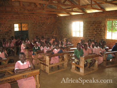 Children in Shiakhondo Primary School