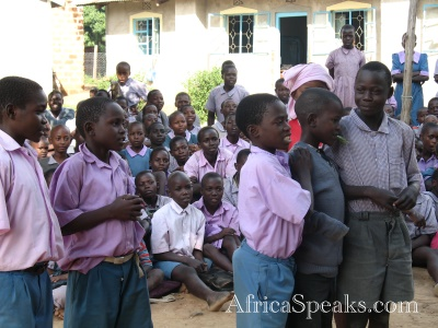 School children doing a skit