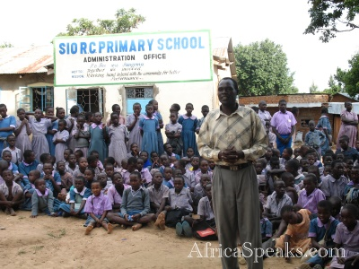 Teacher in Sio Primary School in Kenya