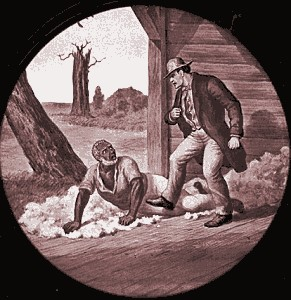 Simon Legree and Uncle Tom: A scene from Uncle Tom's Cabin, history's most famous abolitionist novel.