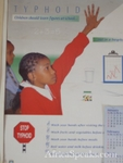 Educational poster on Typhoid