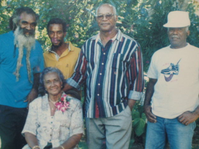 Ma Leta and her sons: Kabadda (Calvin), Derek, Blusie and Scratch
